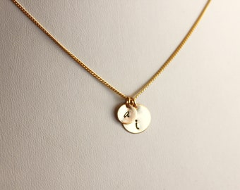 Gold Double Initial Necklace, Two Initial Necklace, Personalized Initial Necklace