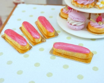Raspberry Eclair - 12th Scale Miniature Food