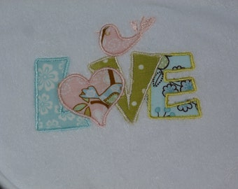"Embroidered Bib ""LOVE"""