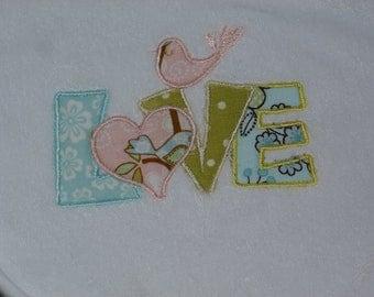 "Embroidered Bib ""LOVE"""