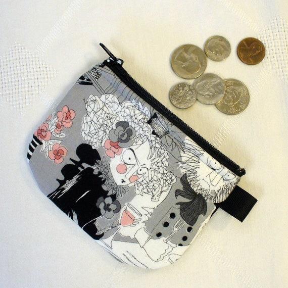 The Ghastlies Halloween Mini Coin Purse Zipper Change Purse Fabric Coin Wallet A Ghastlie Night Gray