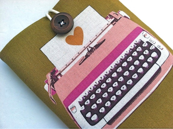 "Typewriter Kindle Cover 6"" Kindle Paperwhite or Nook Simple Touch Case Galaxy Tab 3 7.0, 8.0 Cover"