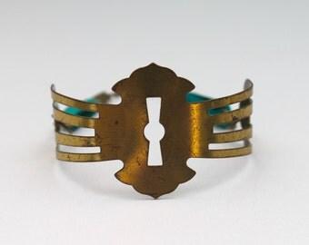 vintage keyhole cuff bracelet