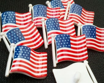 United States Flag Buttons - 1 1/8 inch x 1 inch - YOU PICK QUANTITY - 10 to 60