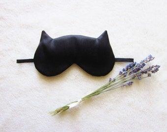 French Lavender Aromatherapy Cat Eye Mask