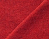 Christmas Crimson Red Herringbone Hand Dyed Felted 100% Wool Fabric Perfect for Rug Hooking and Applique