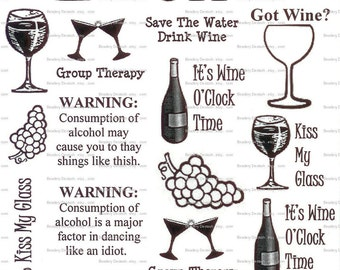 Wineo Wine Lovers Sepia Decals for Image Transfer Onto Glass 0624Wineo