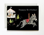Merry Go Round Birthday Card (A2 size with matching envelope)