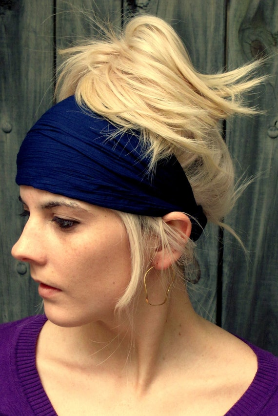 Items similar to Cotton Headband Wide Women's Workout ...