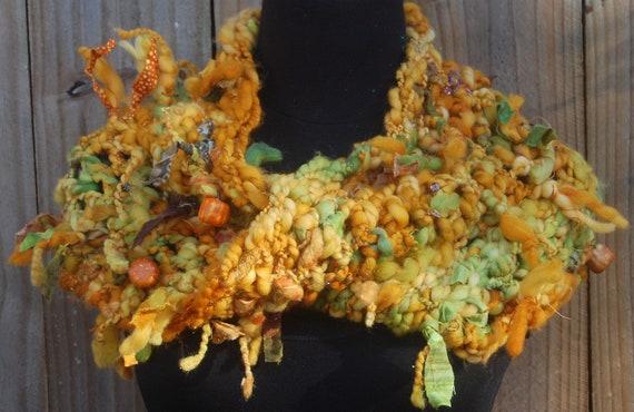 Autumn Colors Handmade Crochet Mobius Cowl Neckwarmer OOAK