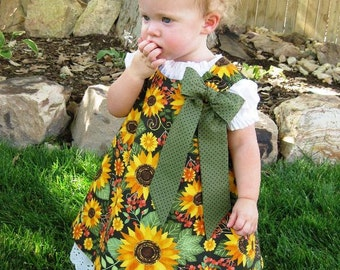 Reversible Aline Jumper Dress and Under Slip Patterns COMBO SET PDF Sewing Pattern 6 Mos. - 6  Children Handmade Clothing Pattern