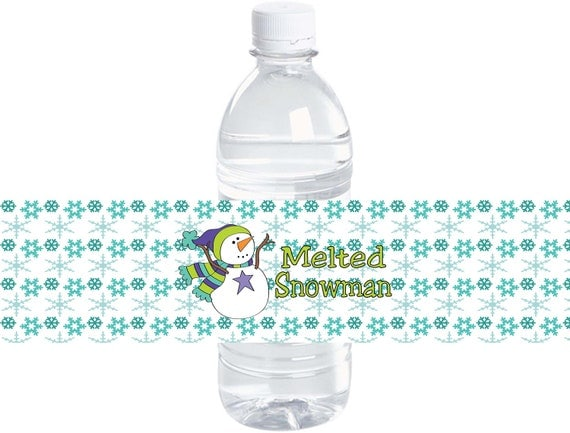 Buy Water Bottle Labels Items Similar To Melted Snowman