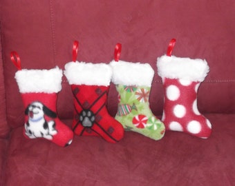 CHRISTMAS STOCKING Dog SQUEAKER Toy - choose one