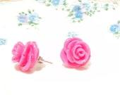My Lovely Rosebud - Flower Stud Earrings