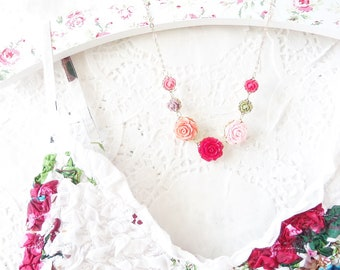 Penelope - Flower Necklace - Whimsy - Whimsical - Bride - Bridesmaid