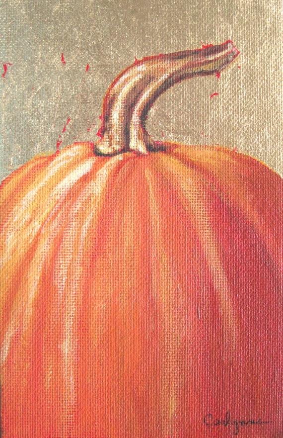 Original pumpkin painting for Halloween or Thanksgiving decorating