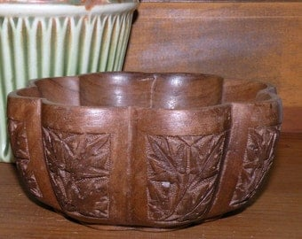 Hand Carved WALNUT Wood Bowl from Kashmir