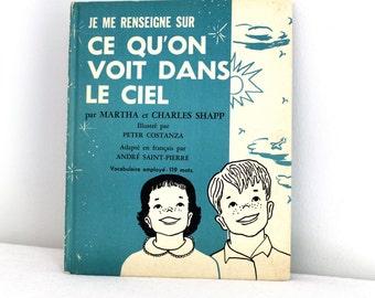 70s French children science book - Je me renseigne sur ce qu'on voit dans le ciel