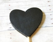 Chalkboard Wedding Sign Photo Prop Table Number Buffet Table Heart