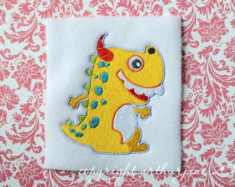 Yellow Monster, INSTANT DIGITAL DOWNLOAD, Embroidery Design for Machine Embroidery 4x4