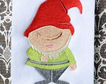 Gnome 1, INSTANT DIGITAL DOWNLOAD, Embroidery Design for Machine Embroidery 4x4