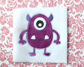 Purple Monster, INSTANT DIGITAL DOWNLOAD, Embroidery Design for Machine Embroidery 4x4