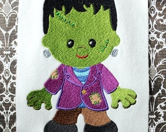 Frankenstein, INSTANT DIGITAL DOWNLOAD, Halloween Embroidery Design for Machine Embroidery 5x7