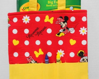 Minnie Mouse Crayon Tote