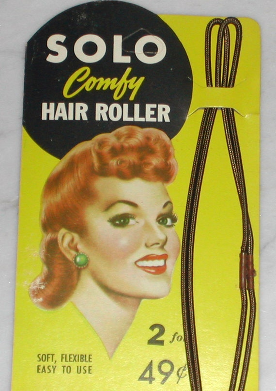 1940s Vintage Hair Rollers For 40s Pin Up Hairstyleslarge
