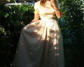 SALE Champagne Princess Bridesmaid Dress M/L