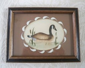Vintage Home Decor Wall Hanging Duck Theorem Painting Signed R. Ross Collectible Art