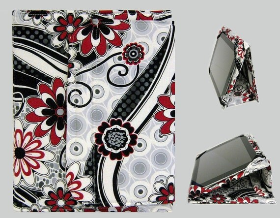 iPad Cover Hardcover iPad Case iPad Mini Cover iPad Mini Case Custom iPad iPad 2 iPad 3 iPad 4 Cover Black and Red Swirls