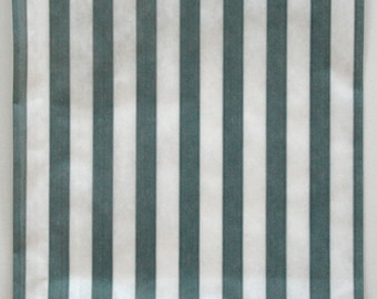 Set of 100 - Traditional Sweet Shop Grey Candy Stripe Paper Bags - 10x14 New Style