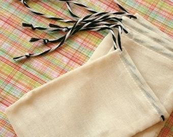 50 RESTRUNG & CUSTOM Stamped Muslin Bags - 4 x 6 - Wedding Favors, Gift Bags, Packaging