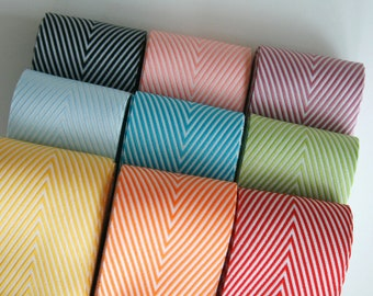 Chevron Twill Herringbone Ribbon - Available in Nine Colors - 1 1/2 Inch Width - Packaging and Gift Ribbon 25 Yards Full Spool Single Color