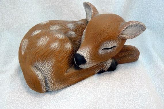 Ceramic Sleeping Fawn