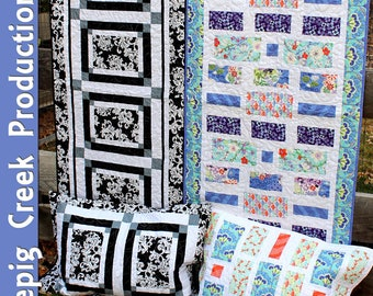 PDF - Top It Off Bed Runners and Shams Sewing Pattern