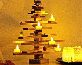 Tabletop Timber Christmas Tree