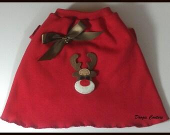 Red Reindeer TShirt Clothes Size XXXS through Medium by Doogie Couture