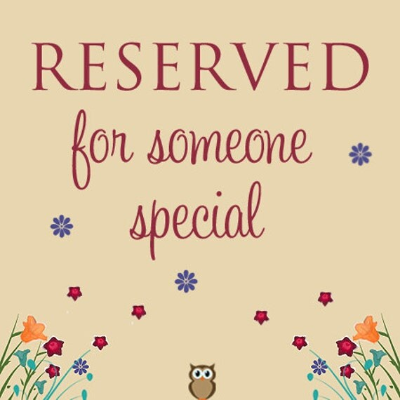 Reserved listing for LilliesLovelies