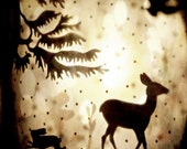 "Surreal Woodland Photo ""Deer Hart"" Collage Photograph - Fairy Tale Art - Dreamy Forest Photo Print - Animal Silhouette"