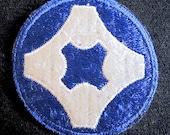 WW2 US Army 4th Service Command patch 1941 unused outstanding original Atlanta GA
