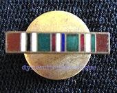WW2 US Military European African MidEast Campaign Medal Award Bar mini metal ribbon