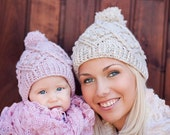 Family Cable Hat Crochet Pattern