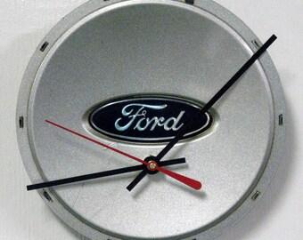 Ford Wall Clock - 2001 - 2003 Hubcap Clock - Recycled Clock - 2002