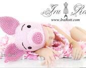 Pinky Piggy Handmade Hat MADE to ORDER Handmade Crochet Hat