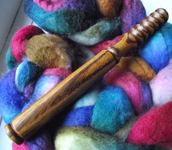 Nostepinne - Wood Nostepinne - Hand Turned Exotic Marblewood Wooden Nostepinne (Yarn Ball Winder)