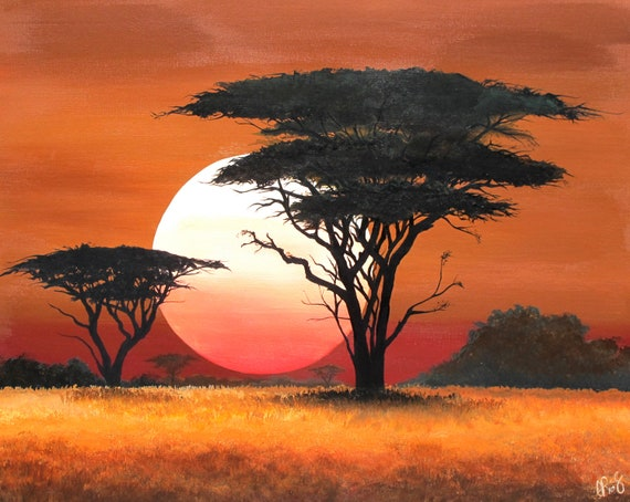 African Sunset Paint Color