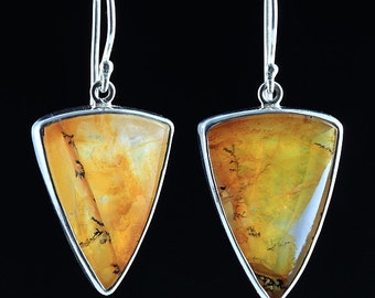 Mark Garbarini Geometric Sterling Silver Dendritic Quartz Earrings