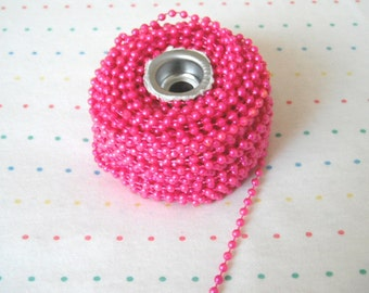 Hot Pink Pearl Trim - 6 Yards